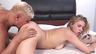 Doggy pleasures after missionary and cum on face in be transferred to do away with