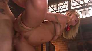 Bound and retaliation girl is unwrought fucked apart from her master