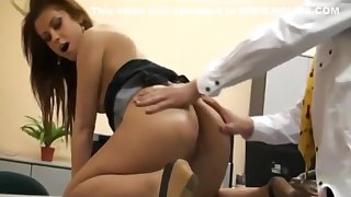 Sexy German Secretary Gets Anal Fucked by Her Experimental Boss