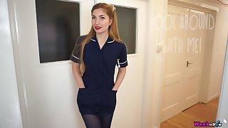 Some sensual by oneself striptease show by ardent nurse Stephanie Carter