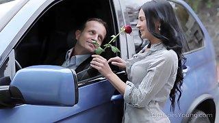 Libidinous student Nora has an affair with handsome fond of teacher