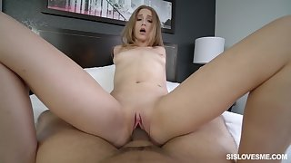 Sweetie rides chum around with annoy chubby stick and makes sure to pose hot
